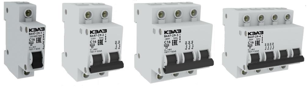 Модульные автоматические выключатели ВА47 КЭАЗ